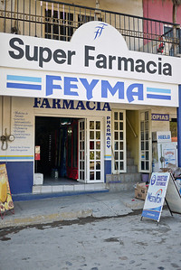 The pharmacy in San Pancho, Mexico.