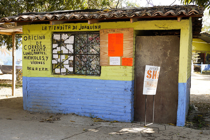 A closed up (but maybe functioning) post office in San Pancho, Mexico.