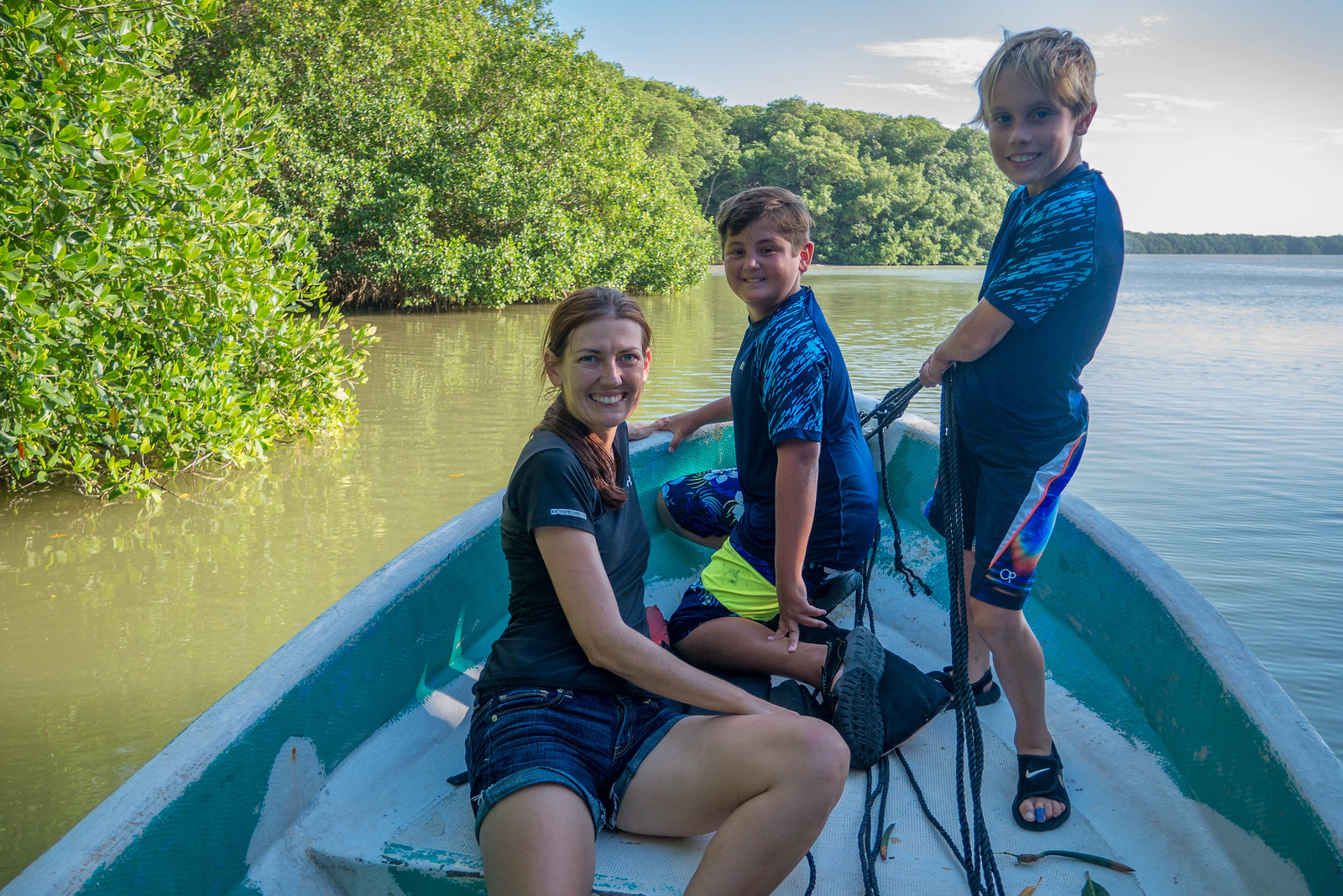 Road tripping the Yucatan with two kids includes boat rides!