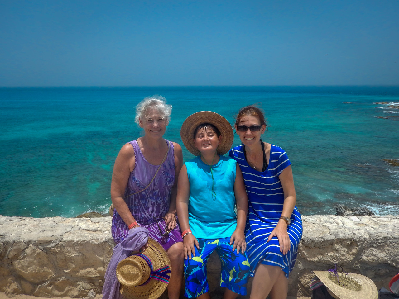Traveling with my aunt and nephews in Isla Mujeres, Mexico.
