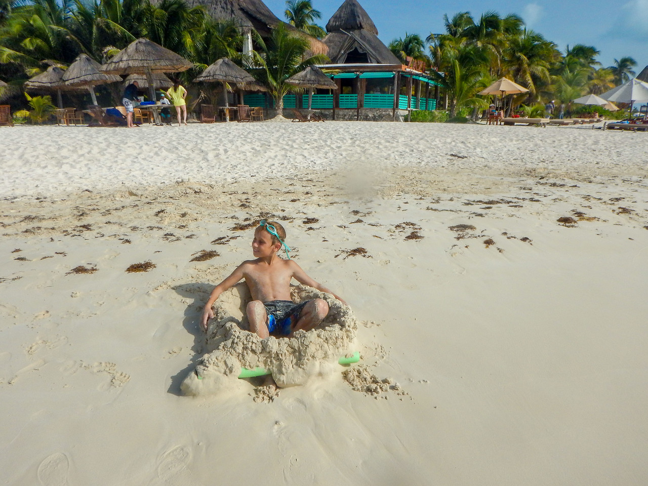 Vic made himself a sand chair!