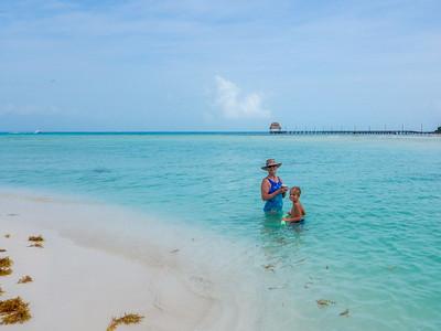 A morning swim at Playa Norte