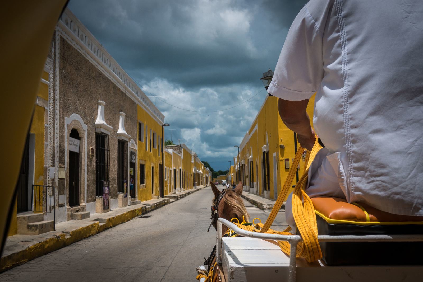 horse cart in izamal