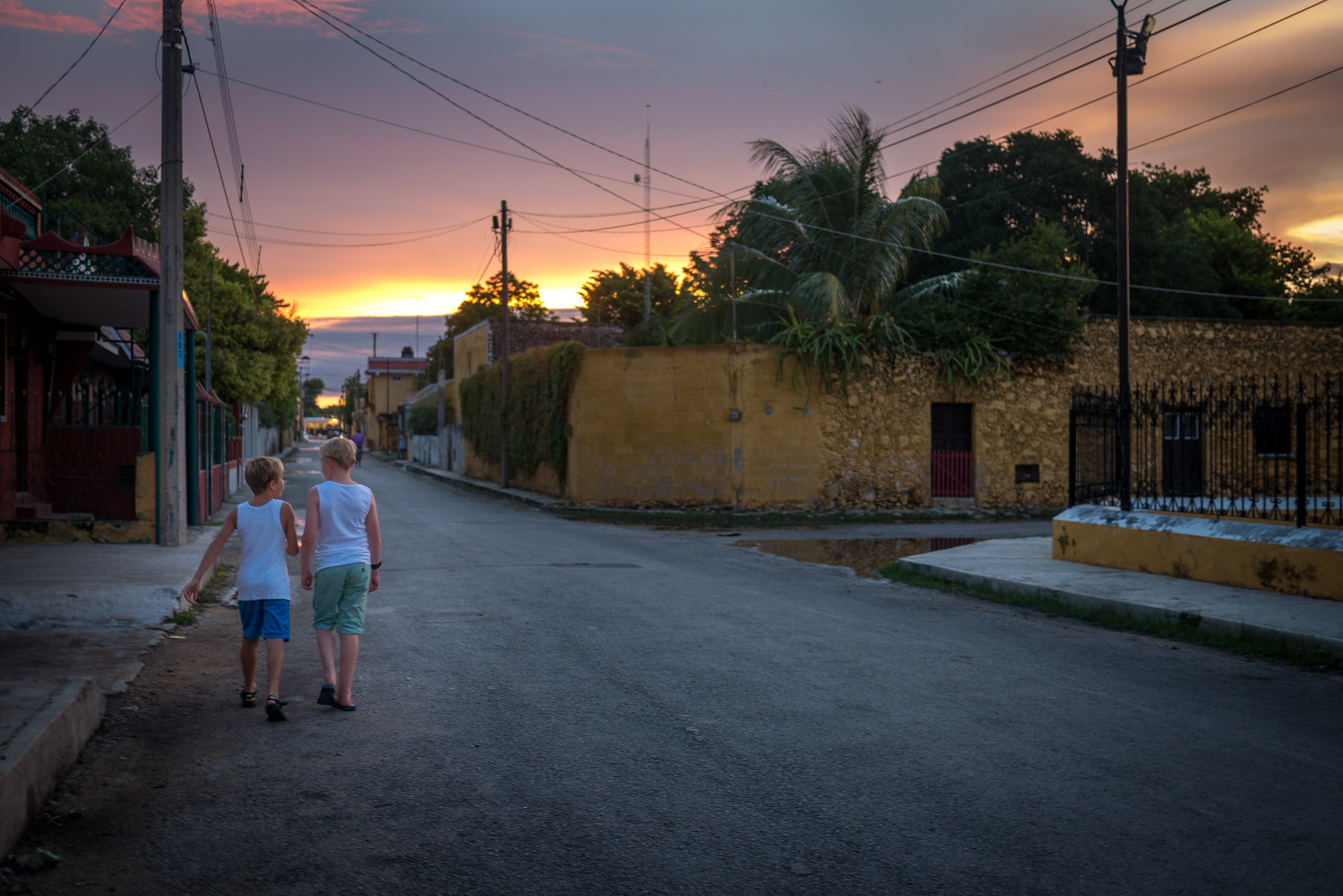 sunset in Izamal
