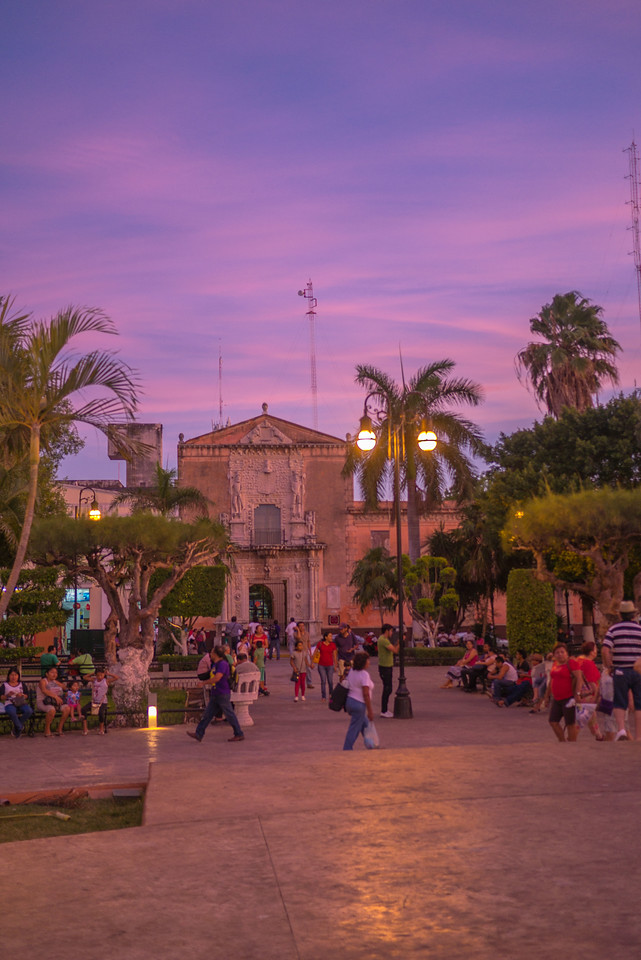 The beautiful town of Merida, Mexico.