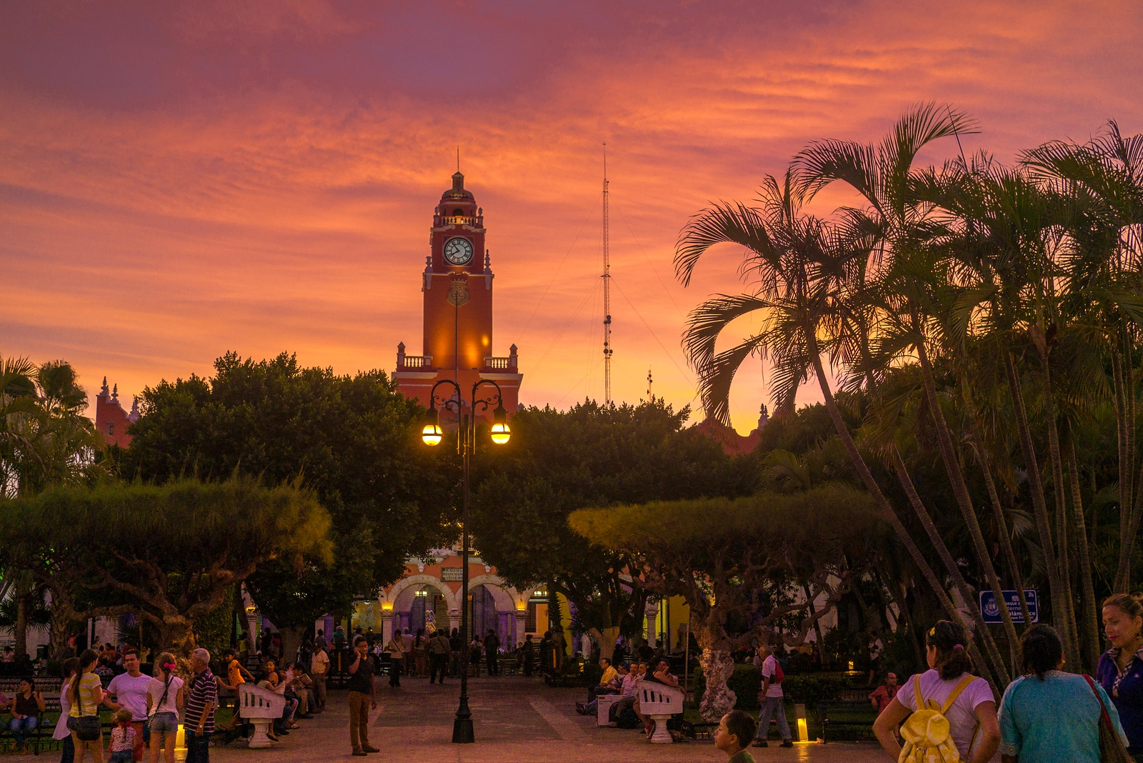 sunset in merida