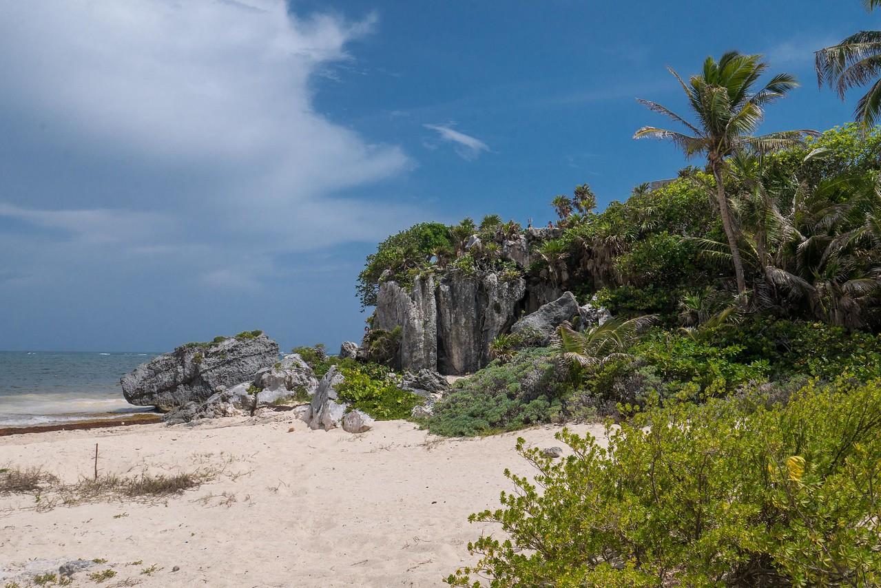 The beaches and ruins of Tulum, Riviera Maya, Mexico.