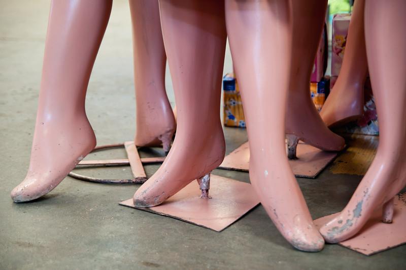 Mannequin legs, Oaxaca, Mexico.