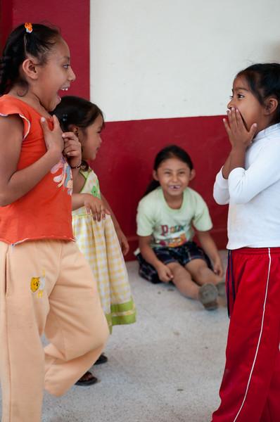 Young girls at the Thursday market, Zaachila, Mexico.