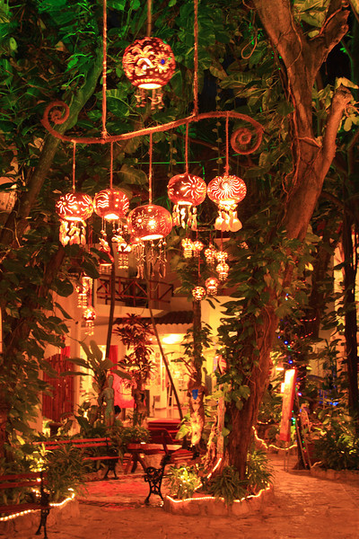 Lanterns in the Courtyard,  Playa Del Carmen, Mexico