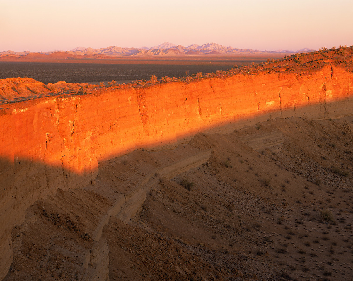 Biosphere Reserve of the Sierra Pinacate & Gran Desierto Altar, Sonora Mex. / Cerro Colorado Crater at sunset. 32002H4