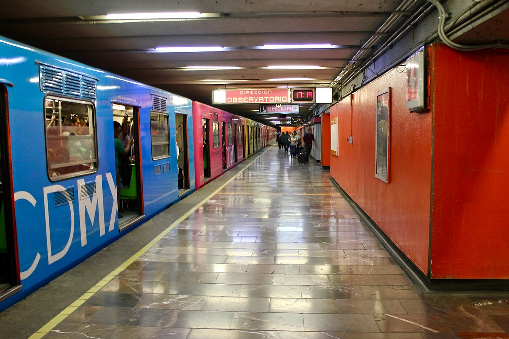 subway station in Mexico City, Mexico