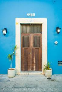 Calles de Merida, Blue #4