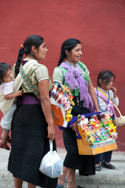 Indigenous women sell cigarettes and candy, Oaxaca, Mexico.