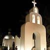 Church at Night in Playa Del Carmen, Mexico