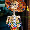 Colorful Skeleton at La Catrina.