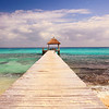 Boardwalk Pier into the Caribbean Sea