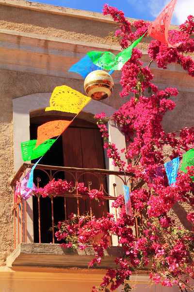 Colorful Balcony in Todos Santos, Mexico