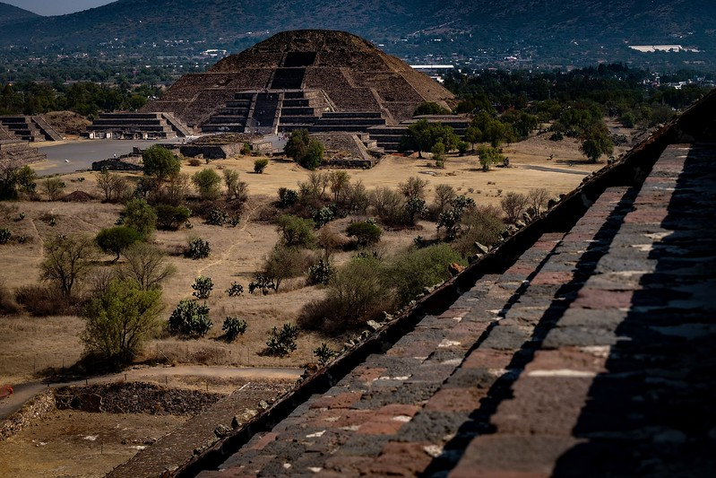 View of the Pyramid of the Moon taken from Pyramid of the Sun.