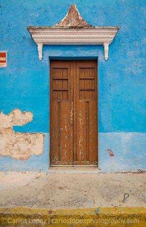 Calles de Merida,  Blue #3