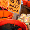 Mole paste for sale in Mercado Juárez, Oaxaca, Mexico.