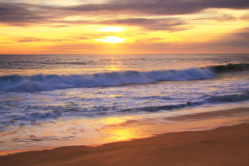 Pacific Surf at Sunset, Los Cabos, Mexico