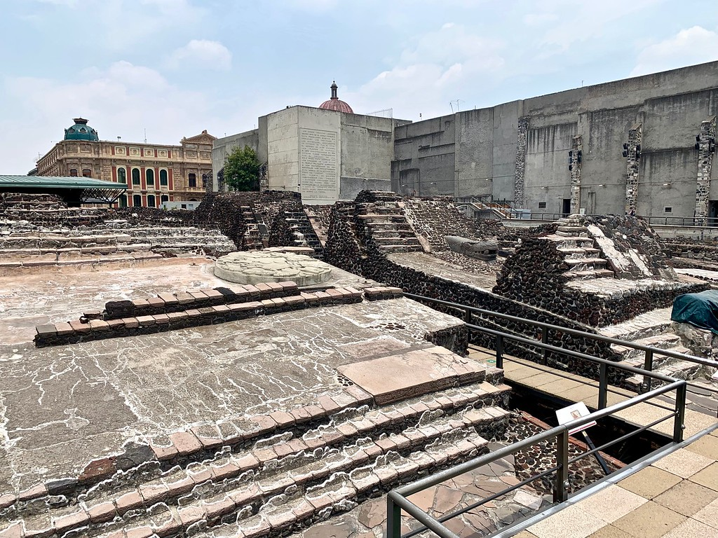 the ruins of Templo Mayor in Mexico City, Mexico