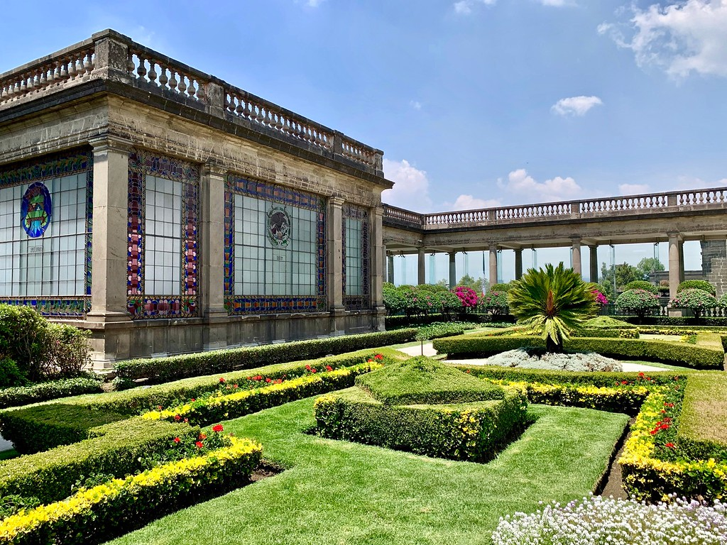 Chapultepec Castle gardens in Mexico City, Mexico