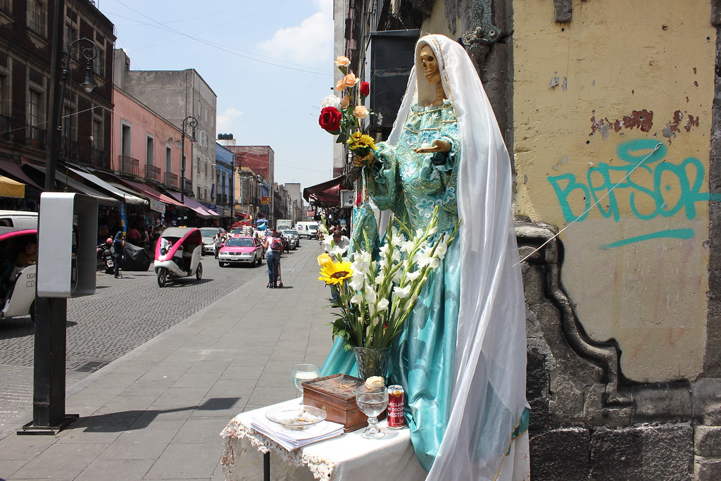 Santa Muerte at Zocolo Market in Mexico City, Mexico