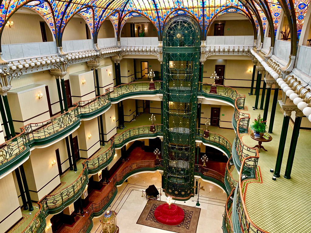 the Gran Hotel lobby in Mexico City, Mexico