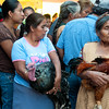 Women with poultry for sale at the Thursday market, Zaachila, Mexico.