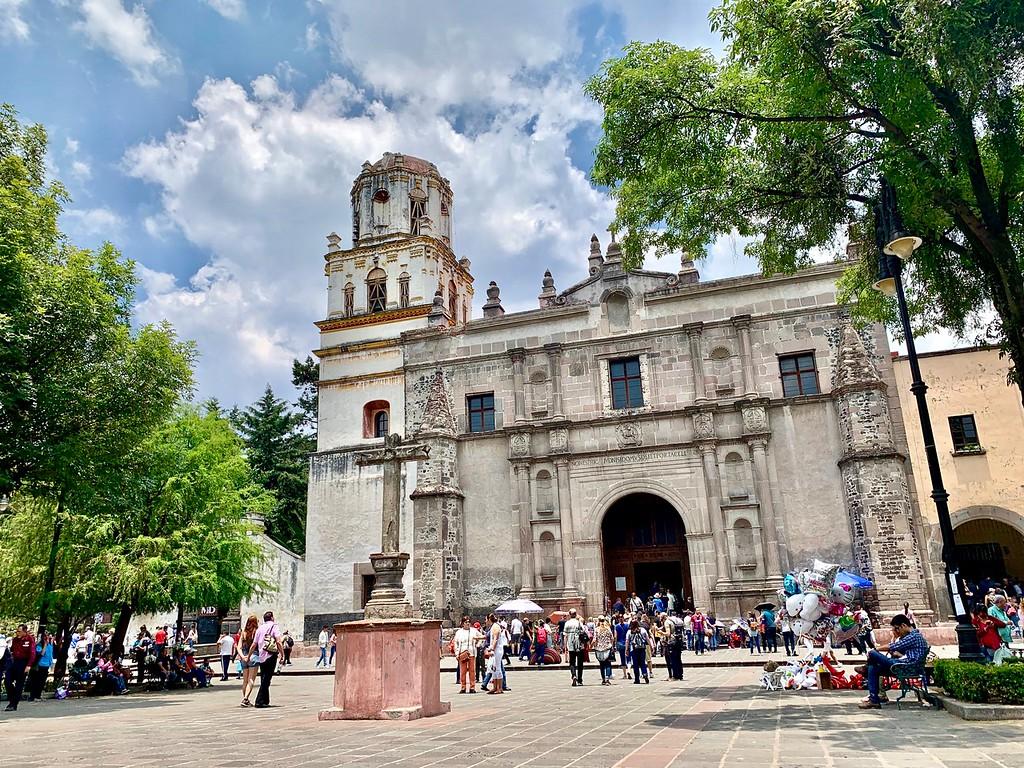 San Juan Bautista in Coyoacan in Mexico City, Mexico