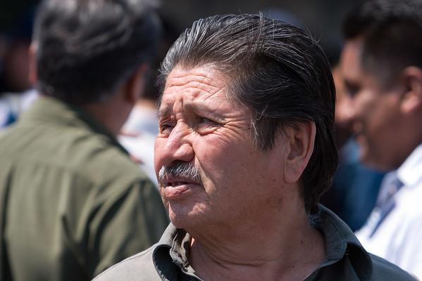 La gente en el Zócalo de la Ciudad de México