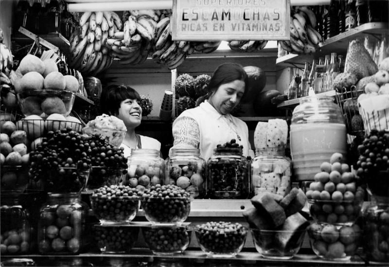An escamocha stand at the Guadalajara central market