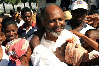 St. Clare's, Delmas, Port-au-Prince - Friends and parishioners celebrate Fr. Jerry's release from prison. (Panetta)