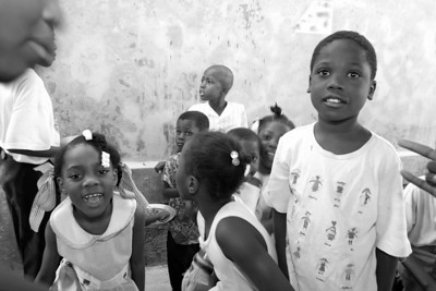 St. Clare's Church, Delmas, Port-au-Prince. What If? Foundation daily meal program (Panetta)