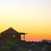 Las Animas Wilderness Lodge, Yurt on Hill at Sunset