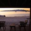 Las Animas Wilderness Lodge, Sunset View Over Bay from Yurt
