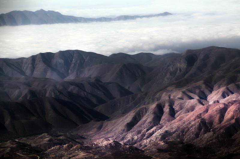 Baja AirVentures Flight to Baja from San Diego, View Over Baja California Mountains