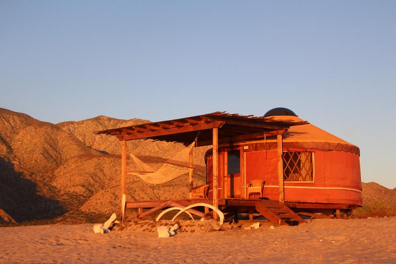 Las Animas Wilderness Lodge, Yurt at Sunrise