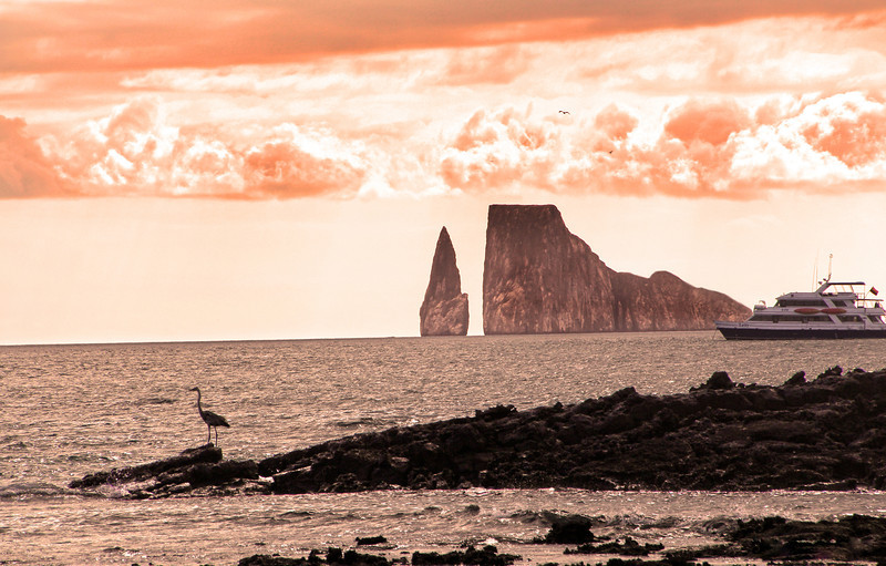 Galapagos Islands, View on Leon Dormido