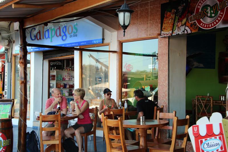 Galapagos Islands, Sidewalk Scene, Puerto Ayora, Santa Cruz