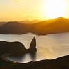 Galapagos Islands, Sunset Over Pinnacle Rock,  Bartolome