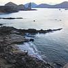 Galapagos Islands ,View over Bartolome Beach onto Pinnacle Rock