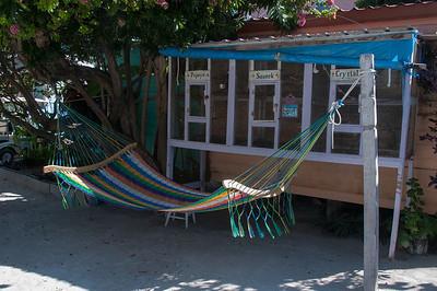 Colorful hammock in Caye Caulker, Belize