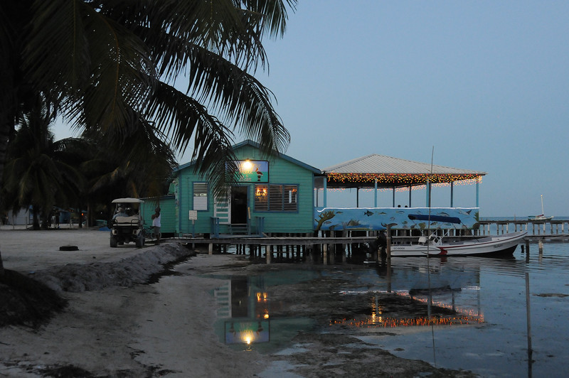 View of the beach at dusk - Caye Caulker, Belize