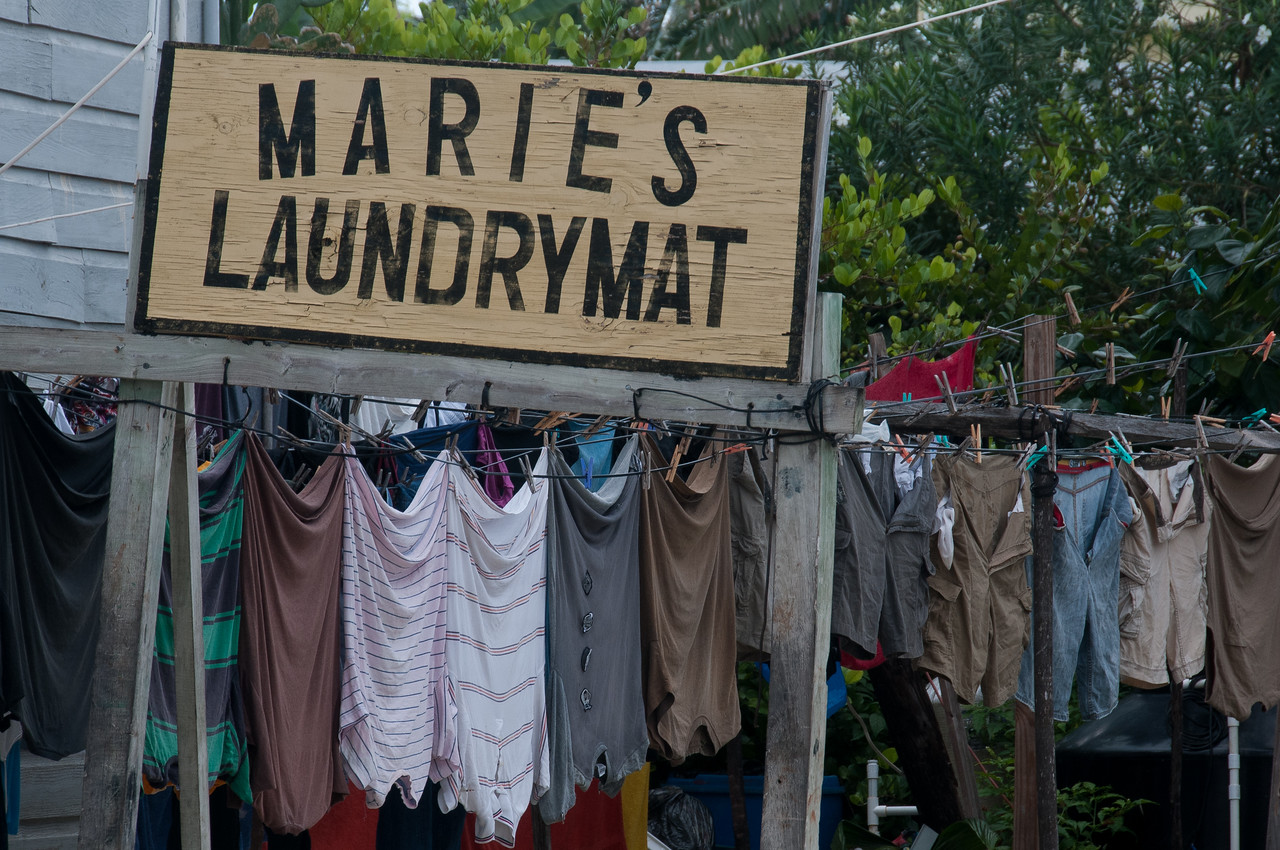 Laundrymat in Caye Caulker, Belize