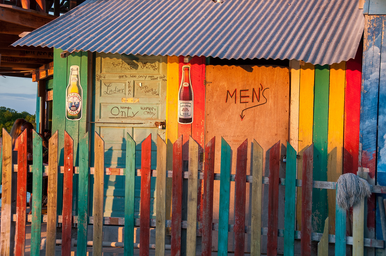 Restroom in Caye Caulker, Belize