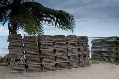 Lobster traps in Caye Caulker, Belize