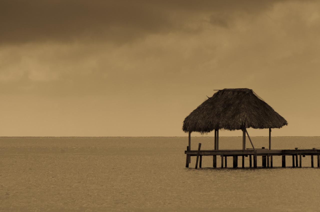 Hut in the ocean - Caye Caulker, Belize